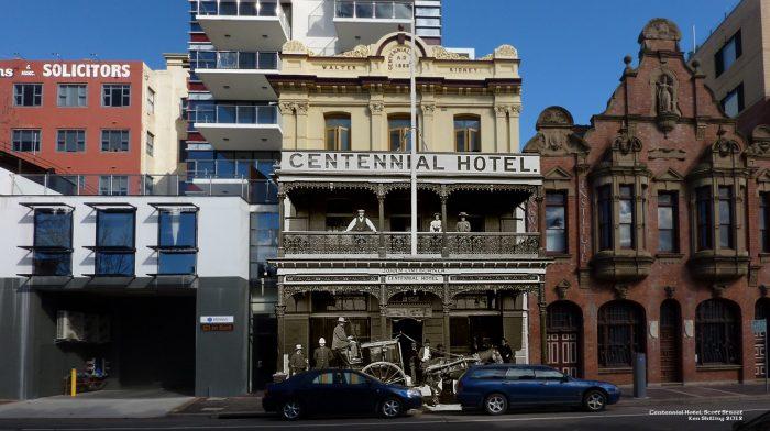 Centennial Hotel - then & now